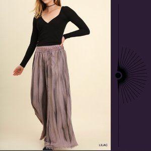 *2/15* Umgee Wide Leg Pants with Crochet Waist